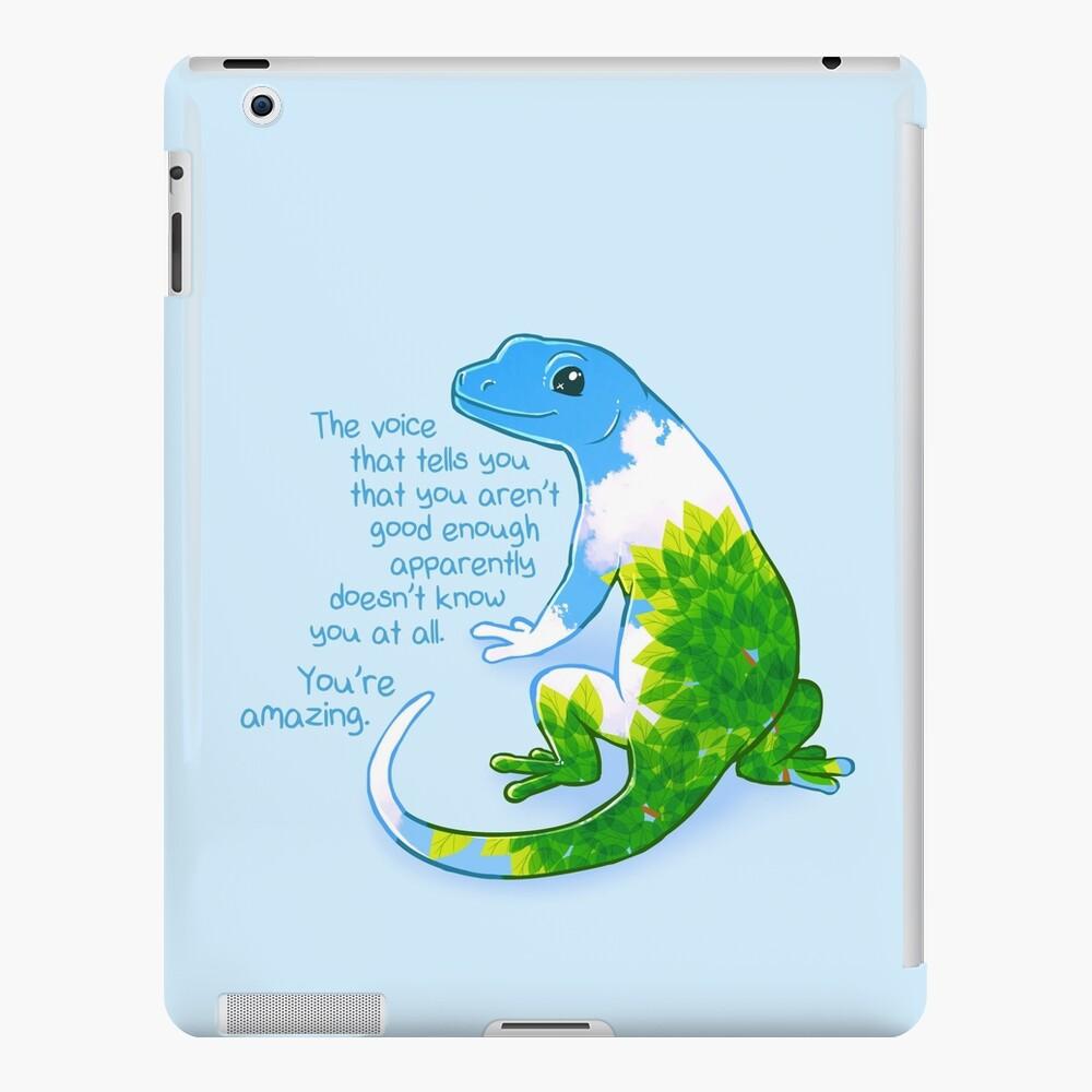 """""""Eres increíble"""" Summer Leaves Gecko Funda y vinilo para iPad"""