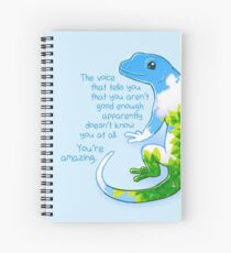 """""""You're Amazing"""" Summer Leaves Gecko Spiral Notebook"""