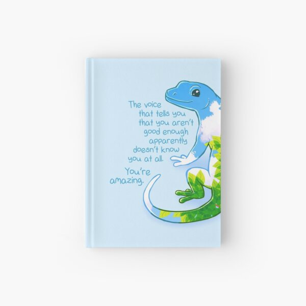 """""""You're Amazing"""" Summer Leaves Gecko Hardcover Journal"""