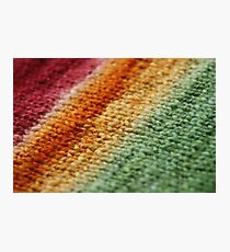 Gradient Knitted Fabric Photographic Print