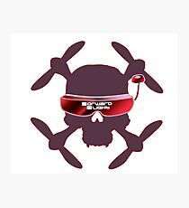 FPV Skull and Goggles Photographic Print