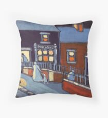 The post office (from my original painting) Throw Pillow