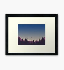 Evening Mountain Scenery Framed Print