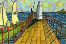 149 - BLYTH PIER 1914 (WATERCOLOUR) by BLYTHART