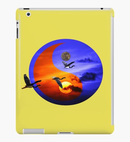 Sunset and herons in fly iPad Case/Skin