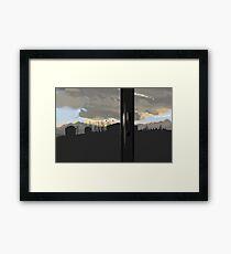 Industrial Pole Framed Print