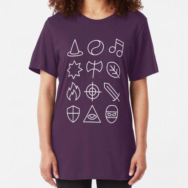 Class - Dungeons & Dragons Line Art Series Slim Fit T-Shirt
