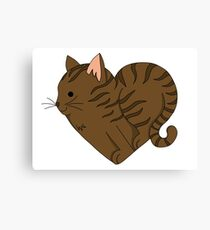 Heart Tabby Cat Canvas Print