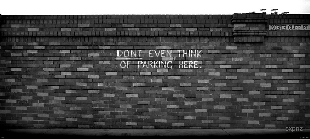 Don't park here by sxpnz