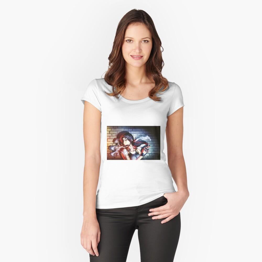 Revy Camiseta entallada de cuello ancho