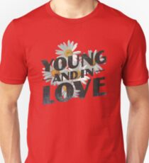 Young Flower Typography T-Shirt