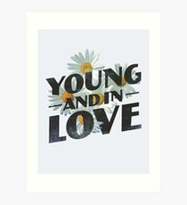Young Flower Typography Art Print