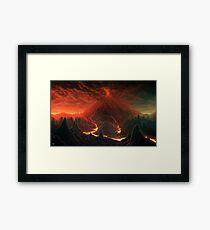 Volcano Framed Print
