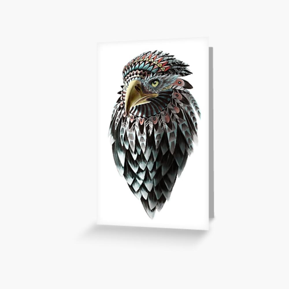 Mythical Eagle Shaman  Greeting Card