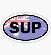 Standup Paddleboarding Australia Flag Sticker