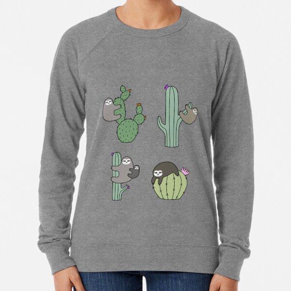 Cacti Sloths Lightweight Sweatshirt