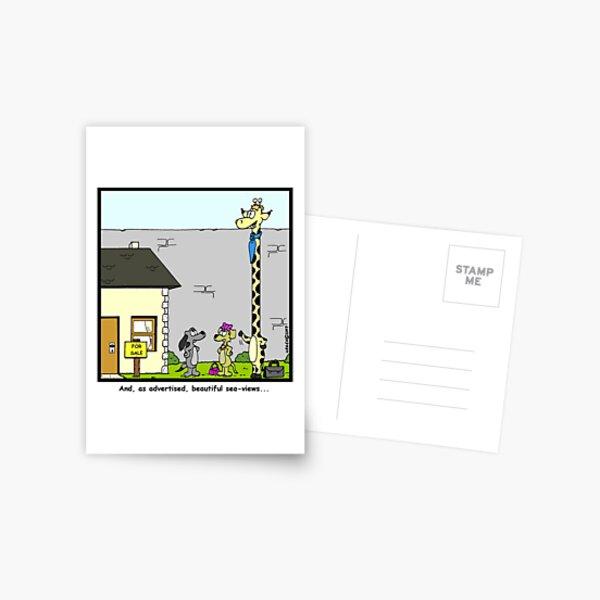 Real Estate for Giraffes Postcard