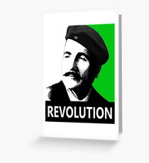 Allama Iqbal Revolution - Pop Art Portrait Greeting Card