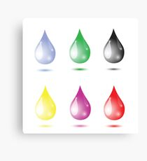 set of drops Canvas Print