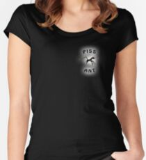 Piss Ant (Small-Black) Women's Fitted Scoop T-Shirt
