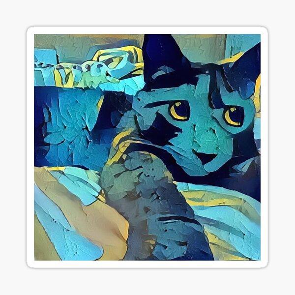 Blue Mew (Electric Catnip) Sticker