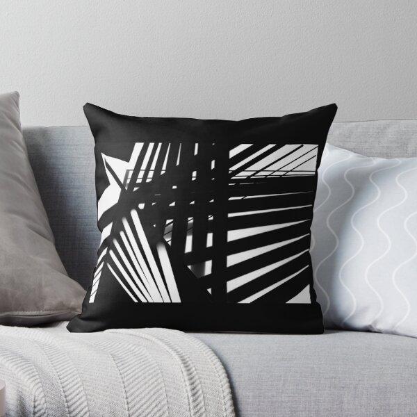 Black & White Abstract Throw Pillow