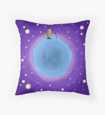 The Little Prince and His Rose Throw Pillow