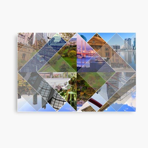 Melbourne The World's Most Livable City Collage Canvas Print