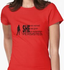 SHE PERSISTED. Womens Fitted T-Shirt