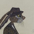 HARE IN HAT h3068 by Hares & Critters
