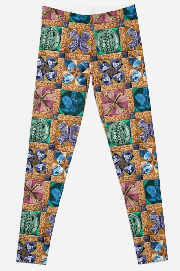 Human Anatomy Quilted Pattern Leggings By Adamcampen Redbubble