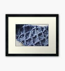 Textured Knit Fabric Framed Print