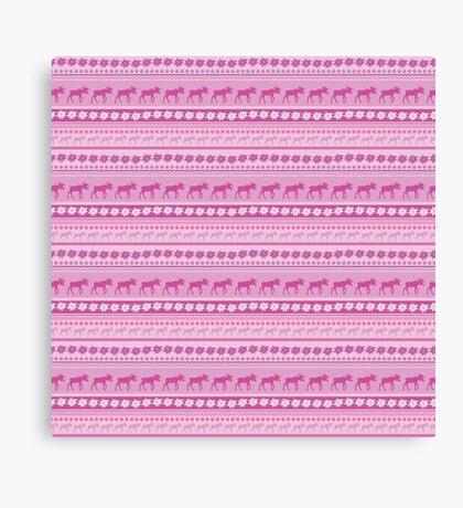 Moose Pink Pattern Canvas Print