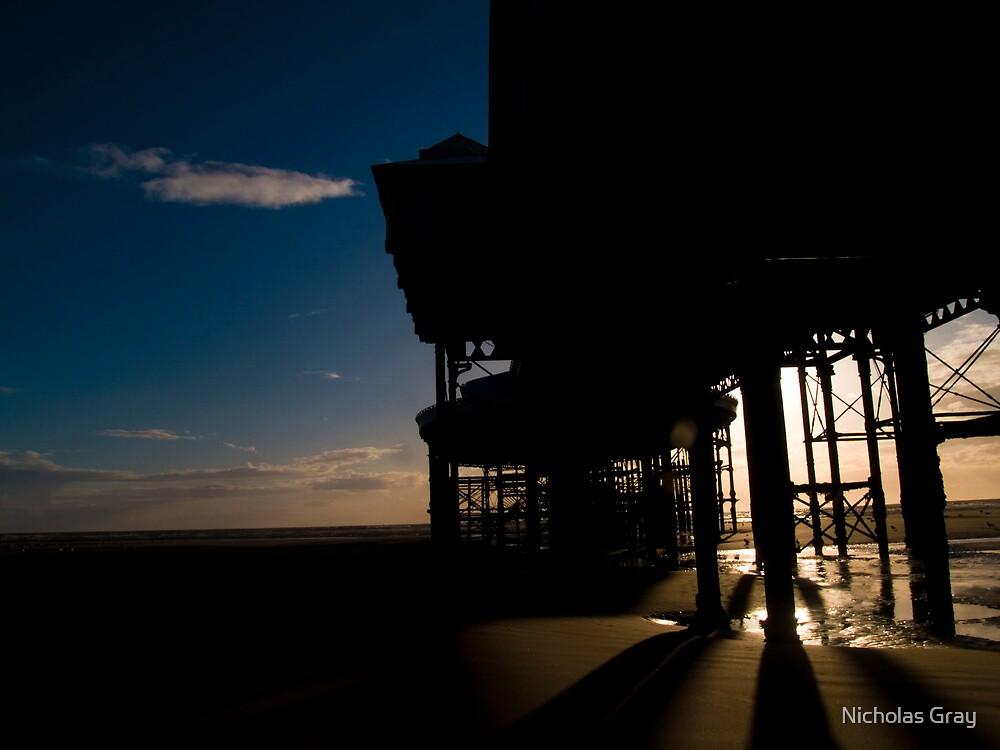 Blackpool Pier Shadow by Nicholas Gray