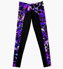 Purple Mosaic Side Stripe Leggings Leggings