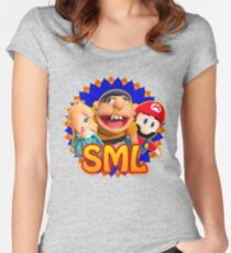SML JEFFY ROSALINA & MARIO Women's Fitted Scoop T-Shirt
