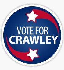 VOTE FOR CRAWLEY -- Red-White-and-Blue 2 Sticker
