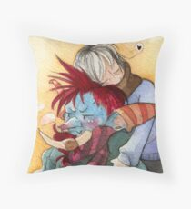 Cuddle your troll Throw Pillow