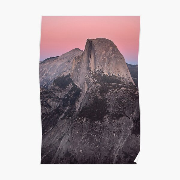 Dusk Falls on Half Dome Poster