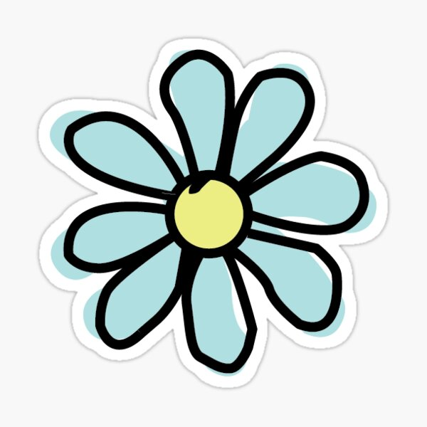 Aqua Flower Sticker