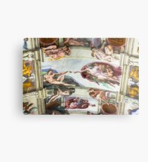 The Creation of Adam - Photograph by Anthony Symes Metal Print