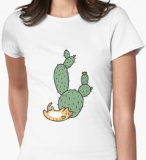 Cacti Cats Women's Fitted T-Shirt