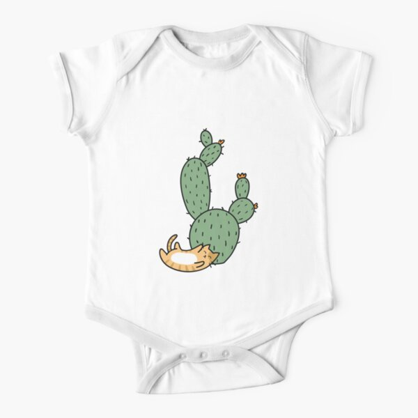Cacti Cats Short Sleeve Baby One-Piece
