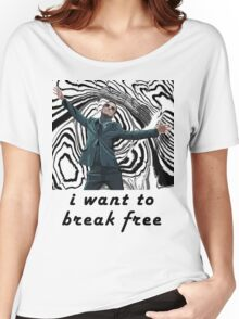 MORIARTY BREAK FREE - NOT FOR DARK CLOTHING Women's Relaxed Fit T-Shirt