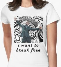 MORIARTY BREAK FREE - NOT FOR DARK CLOTHING Womens Fitted T-Shirt