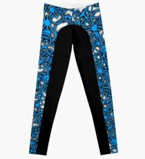 Lotsa Bikes Side Stripe Blue Leggings Leggings