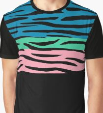 Colorful Animal Stripes Graphic T-Shirt
