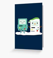 Building SnowMO (Green) Greeting Card
