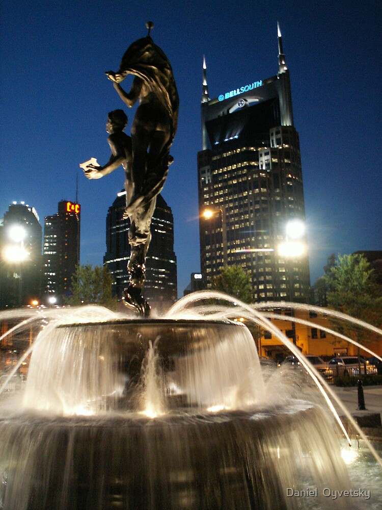 Downtown Nashville as seen through Water by Daniel  Oyvetsky