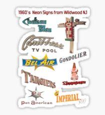 Retro Neon Motel Signs of Wildwood New Jersey 1960's Doo Wop Neon  Sticker